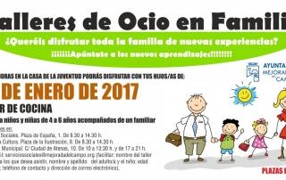 Flyer taller de ocio en familia 20 ENERO