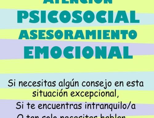 ATENCIÓN PSICOSOCIAL – ASESORAMIENTO EMOCIONAL