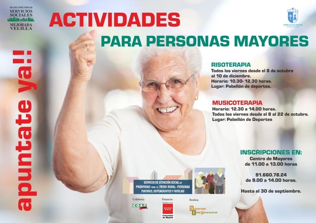 actividades para personas mayores velilla
