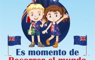 OK cartel recorrer el mundo NUEVA ZELANDA recorte